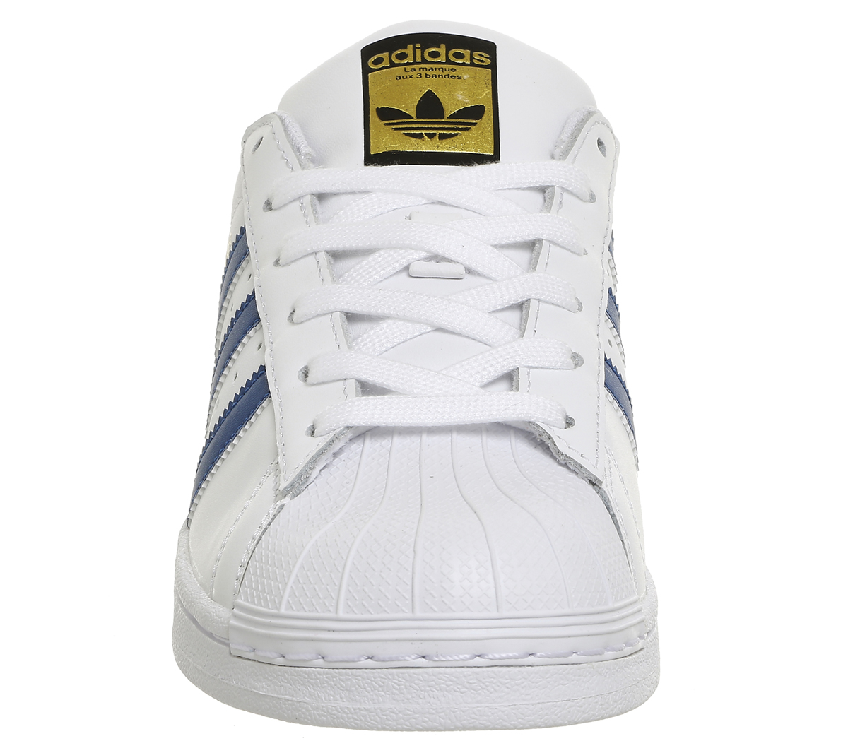 Womens-Adidas-Superstar-Trainers-WHITE-BLUE-Trainers-Shoes