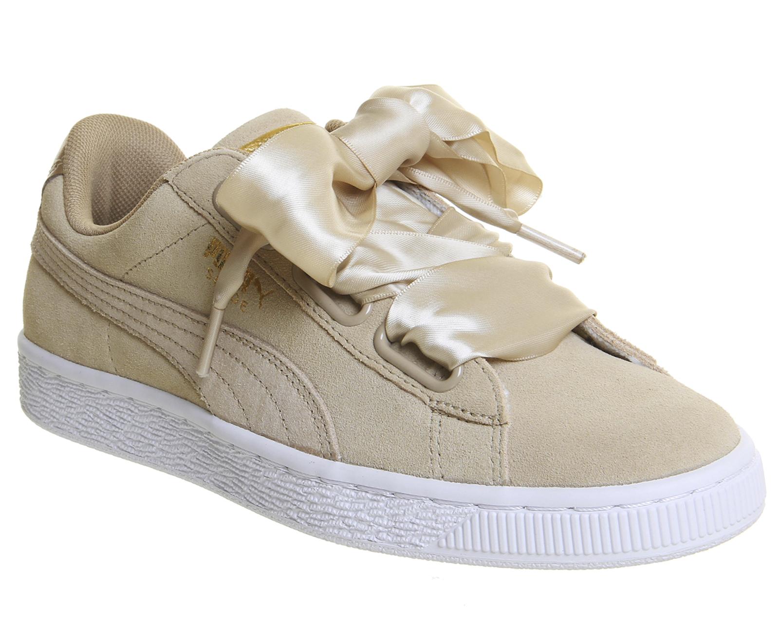 Sentinel Womens Puma Suede Heart Safari Metallic Safari Trainers Shoes 4f1e0147d