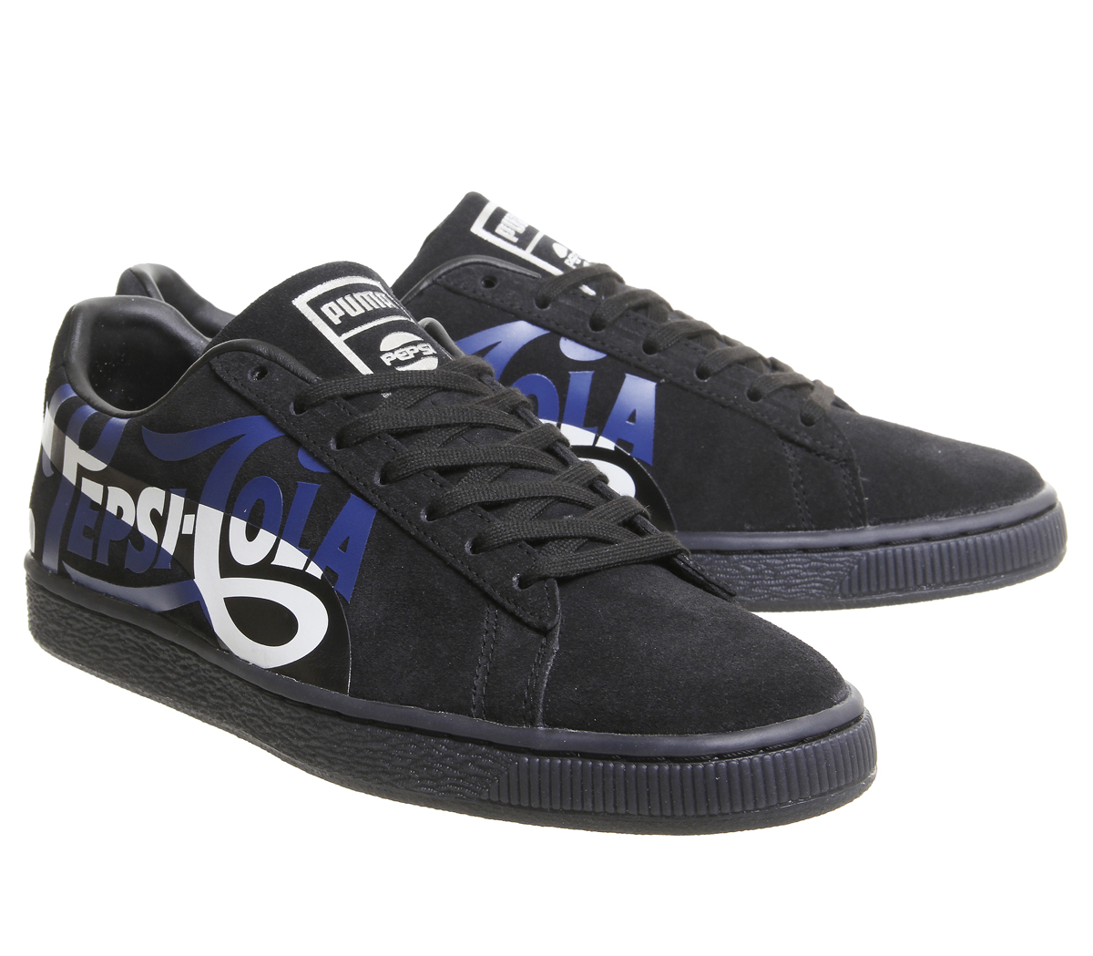 9793863d21 Mens Puma Suede Classic Trainers Pepsi Port Royal Silver Trainers ...