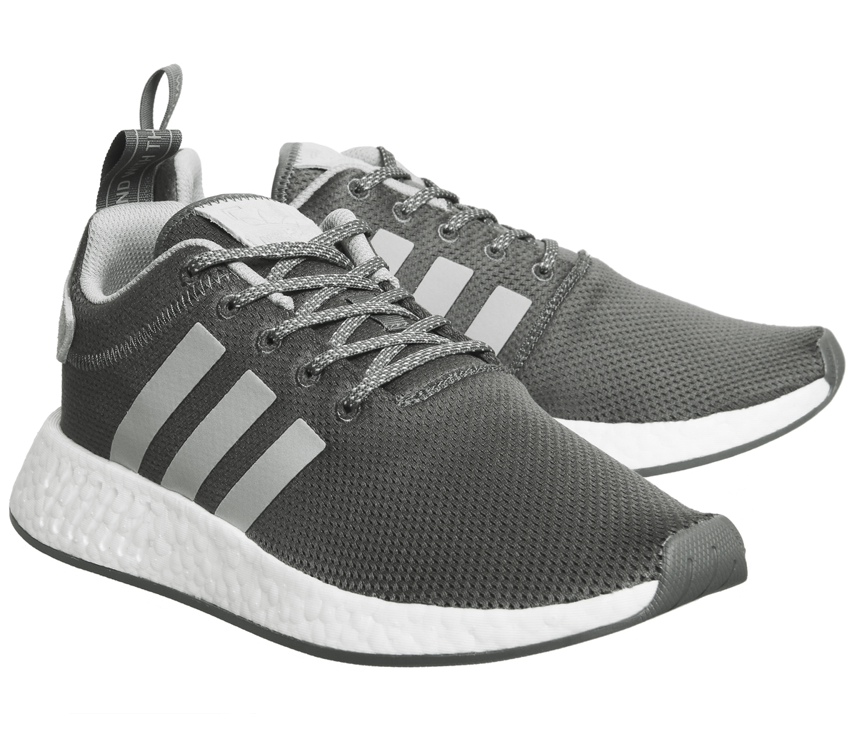 7927928c378f8 Womens Adidas Nmd R2 Trainers Grey Maroon Trainers Shoes