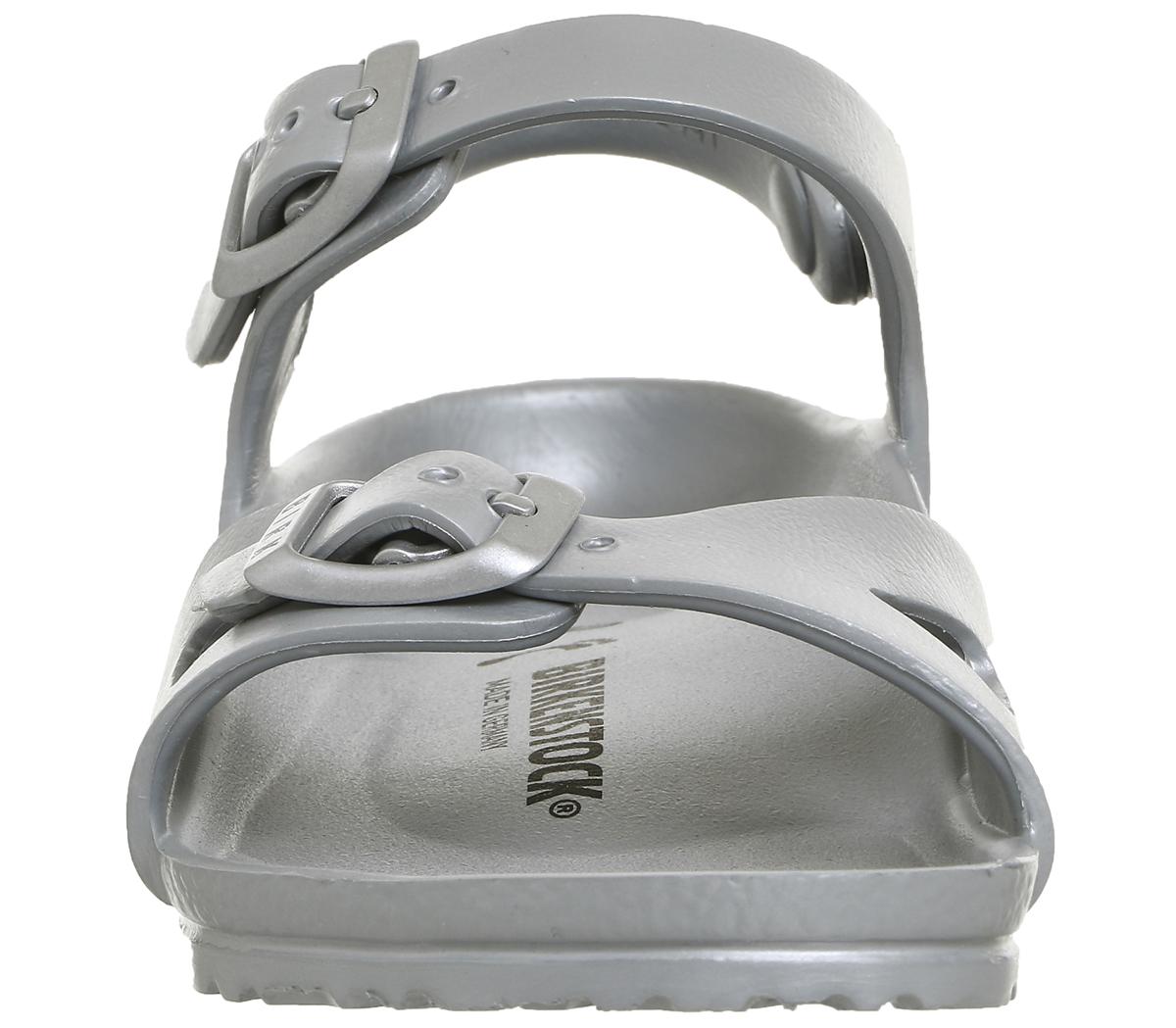 SENTINEL Bambini Birkenstock Rio Eva bambini sandali metallici argento Kids 6275fefa6be