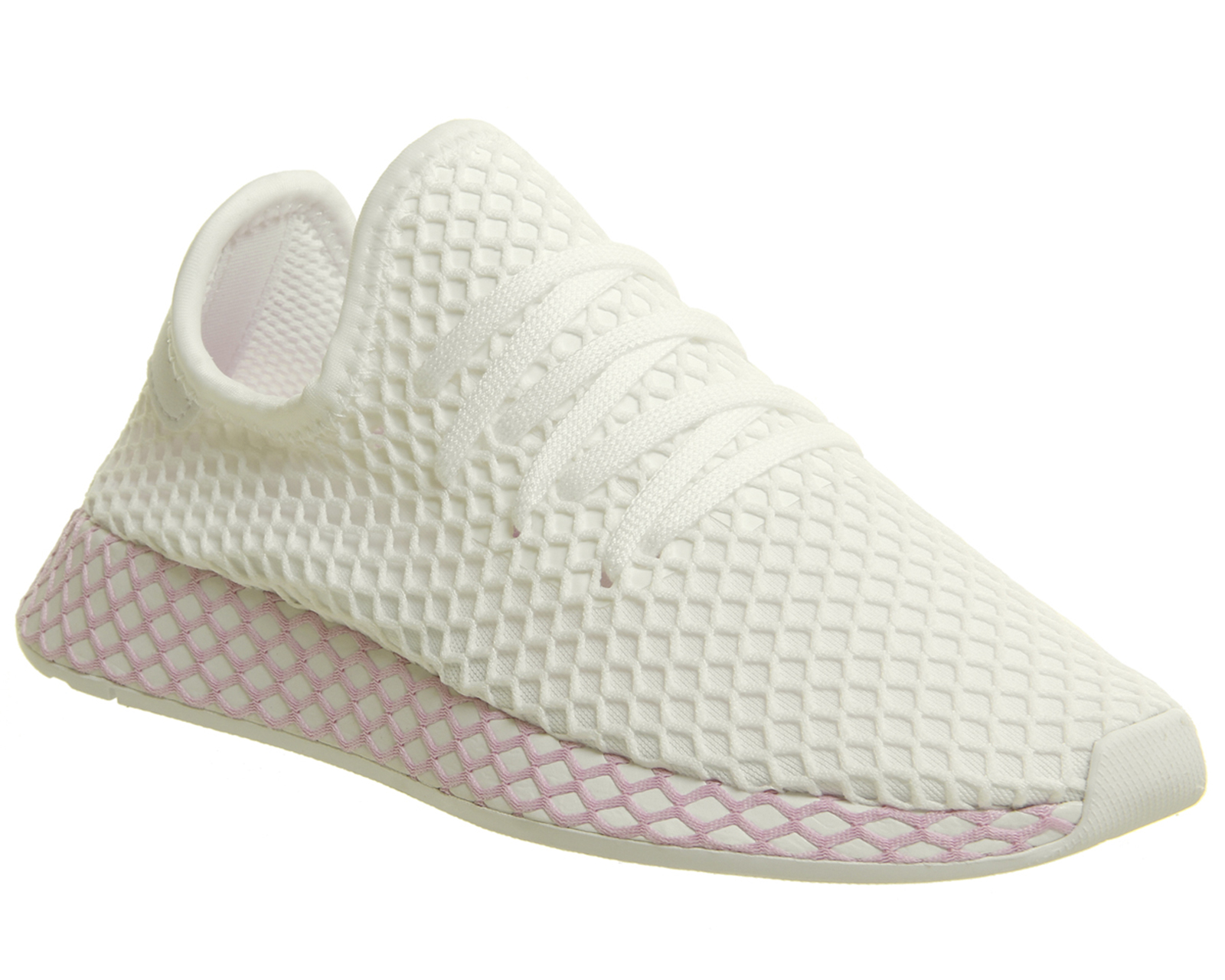 new product cfce6 9afec Sentinel Womens Adidas Deerupt Trainers WHITE CLEAR LILAC F Trainers Shoes