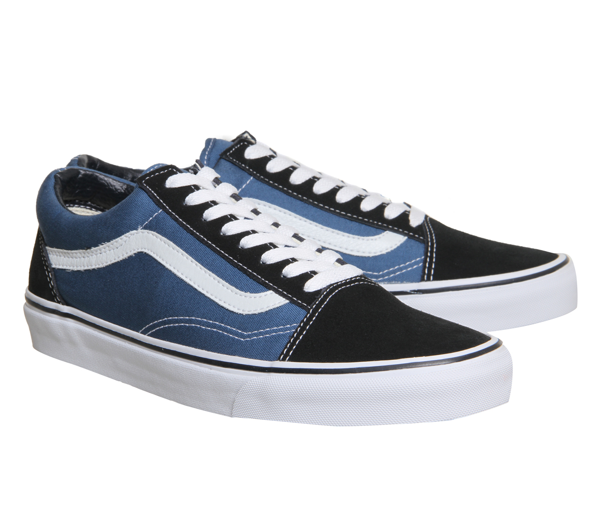 2b828f8f900 Details about Mens Vans Old Skool Navy Trainers Shoes