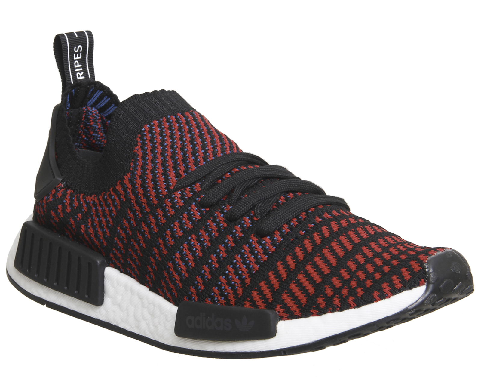 debaac2a1 Sentinel Adidas Nmd R1 Prime Knit Core Black Red Trainers Shoes
