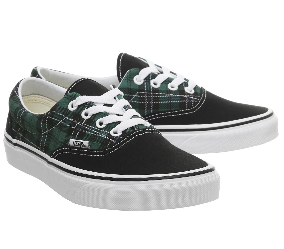 54f2e9872d9c04 Sentinel Mens Vans Era Trainers Evergreen True White Tartan Exclusive Trainers  Shoes
