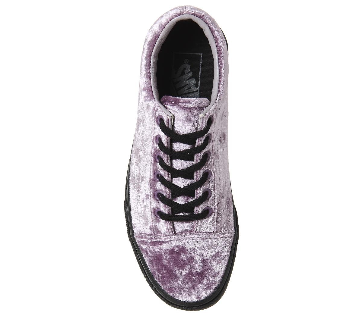 85efdb6aa4ac95 Sentinel Womens Vans Old Skool Trainers VELVET SEA FOG BLACK Trainers Shoes