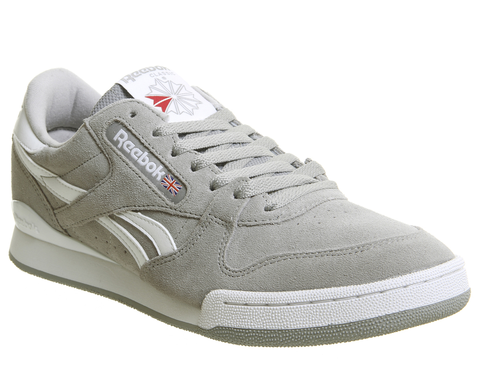 Sentinel Reebok Phase 1 Pro Trainers Tin Grey White Trainers Shoes 74338c92c