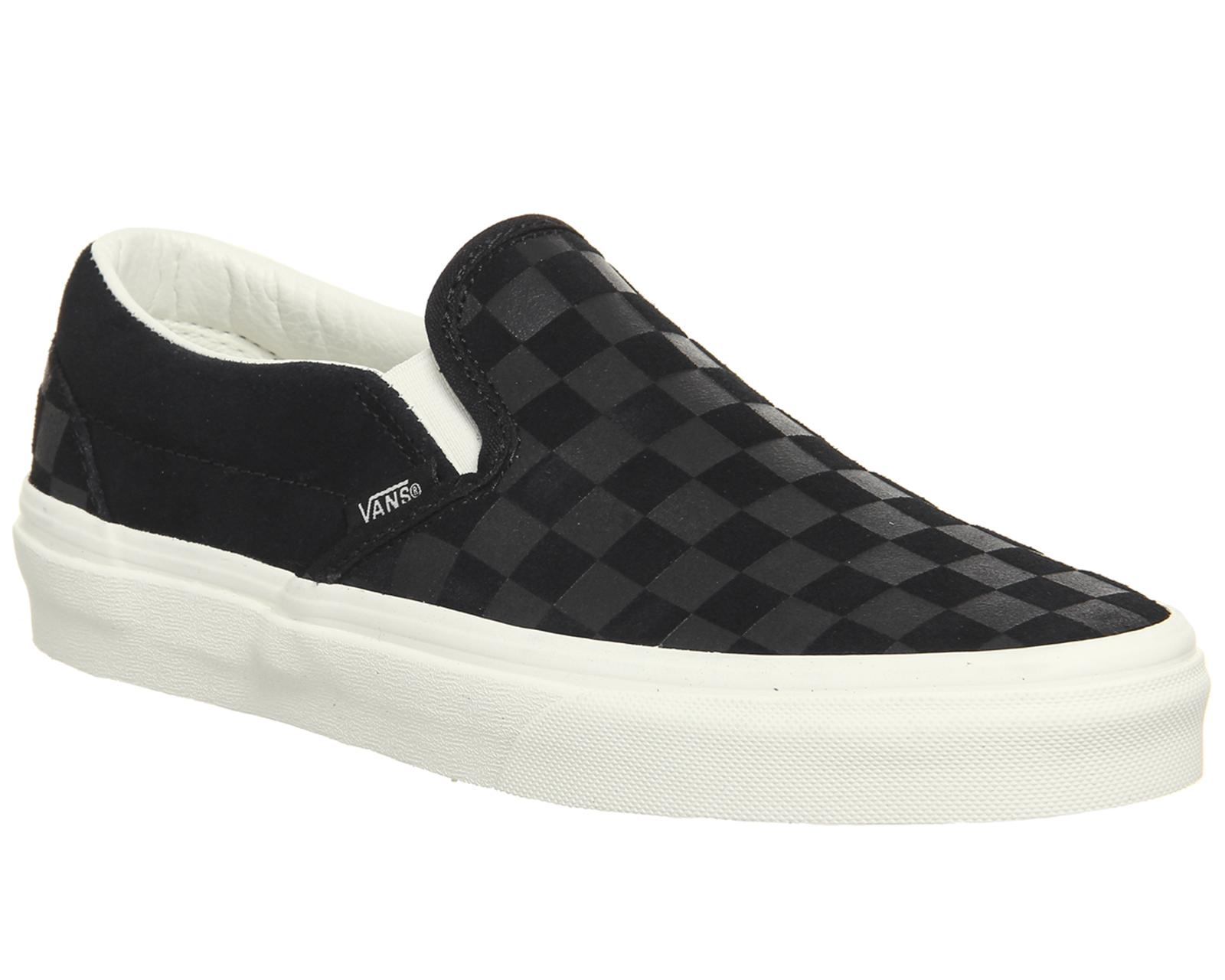 f4b9d908cd Sentinel Mens Vans Vans Classic Slip On Trainers Black Marshmallow  Checkerboard Trainers