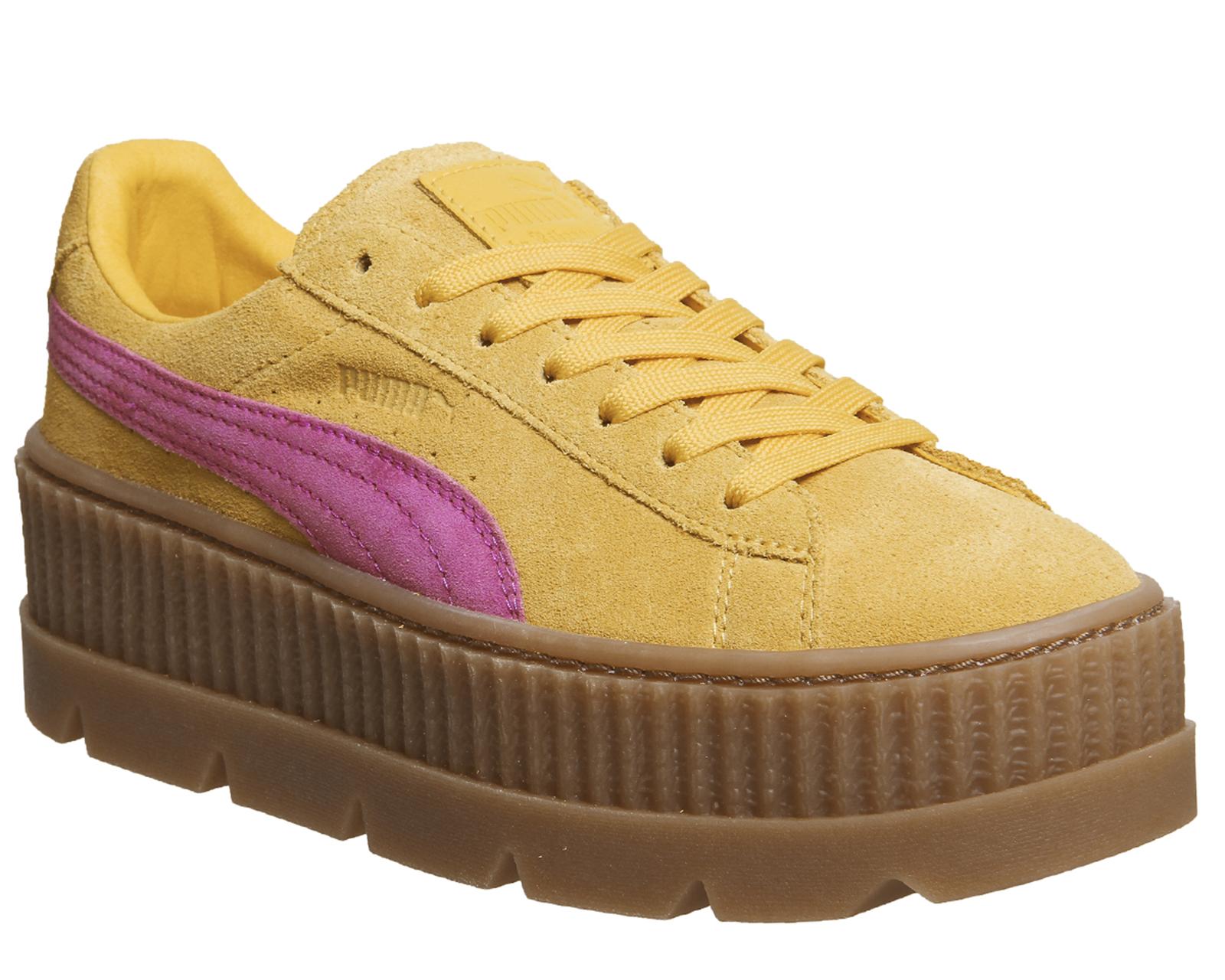 Sentinel Womens Puma Fenty Cleated Creepers LEMON CARMINE ROSE Trainers  Shoes 04e12a9a8