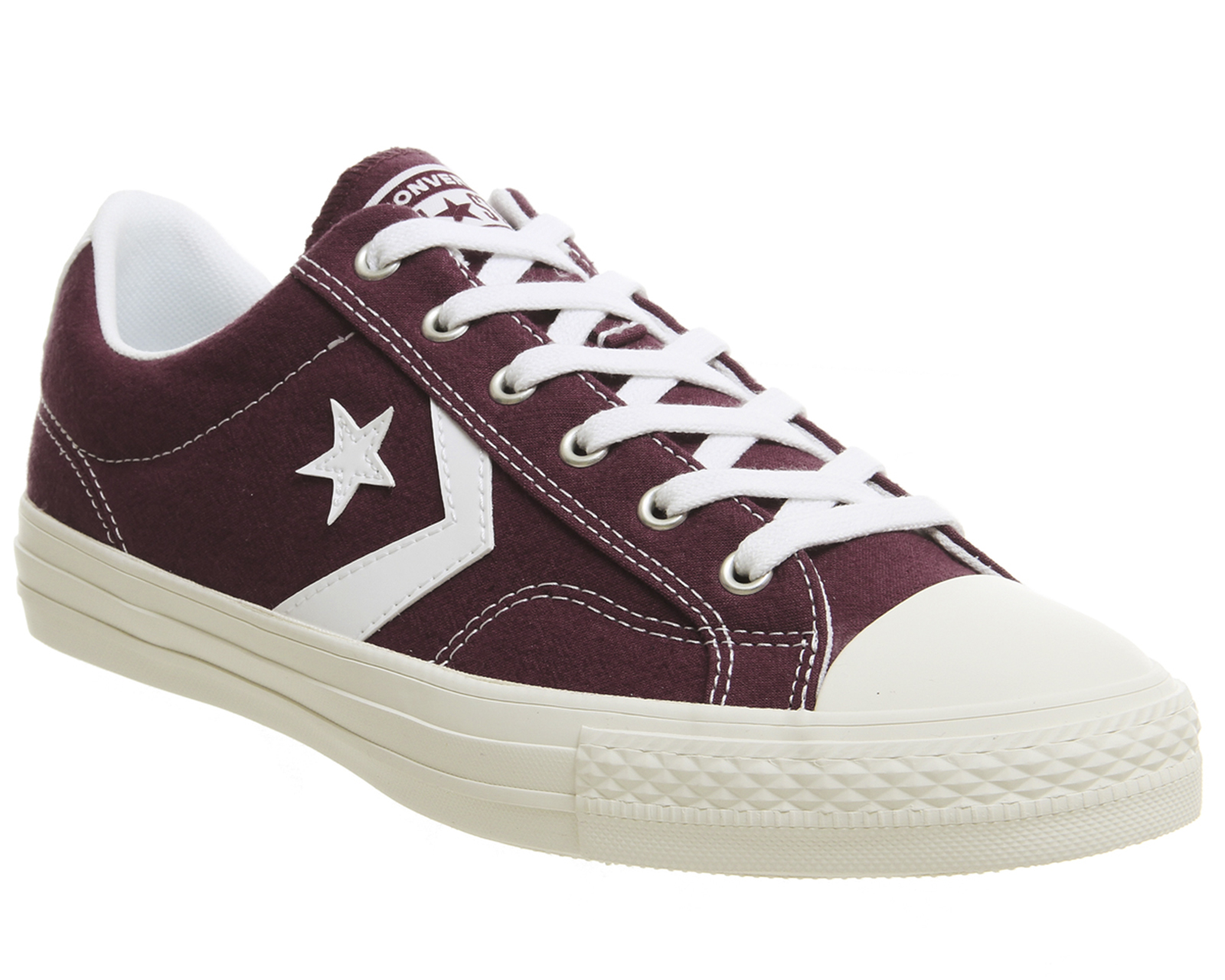 Sentinel Converse Star Player Ox Trainers DARK BURGUNDY WHITE Trainers Shoes 5e6c09718