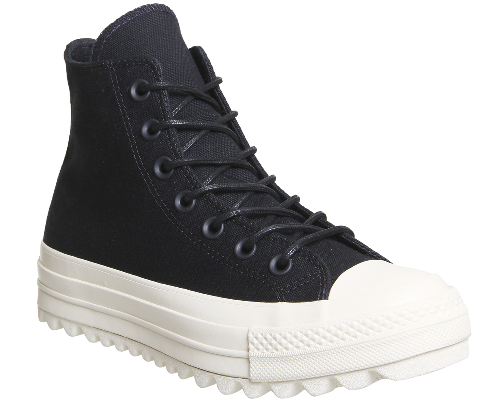 0e9ab1a101c3 Sentinel Womens Converse Chuck Taylor All Star Lift Ripple Hi Black Black  Natural Trainer