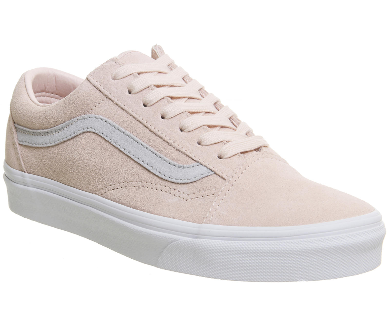677bd5fc4d34 Mens Vans Old Skool Trainers PALE PINK GREY EXCLUSIVE Trainers Shoes ...