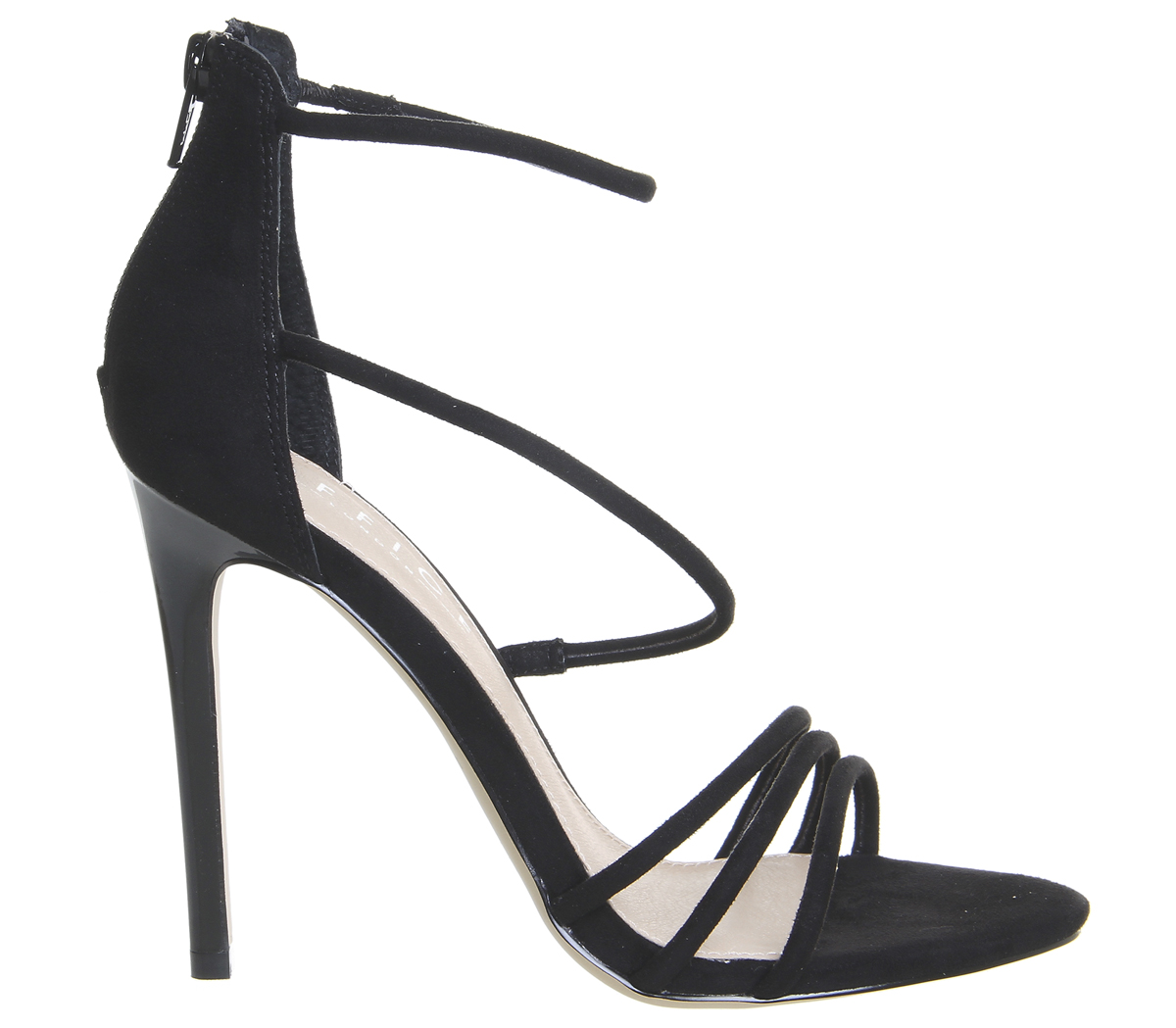 eacb81c1514 Womens-Office-Harness-Strappy-Sandals-Black-Heels thumbnail 4
