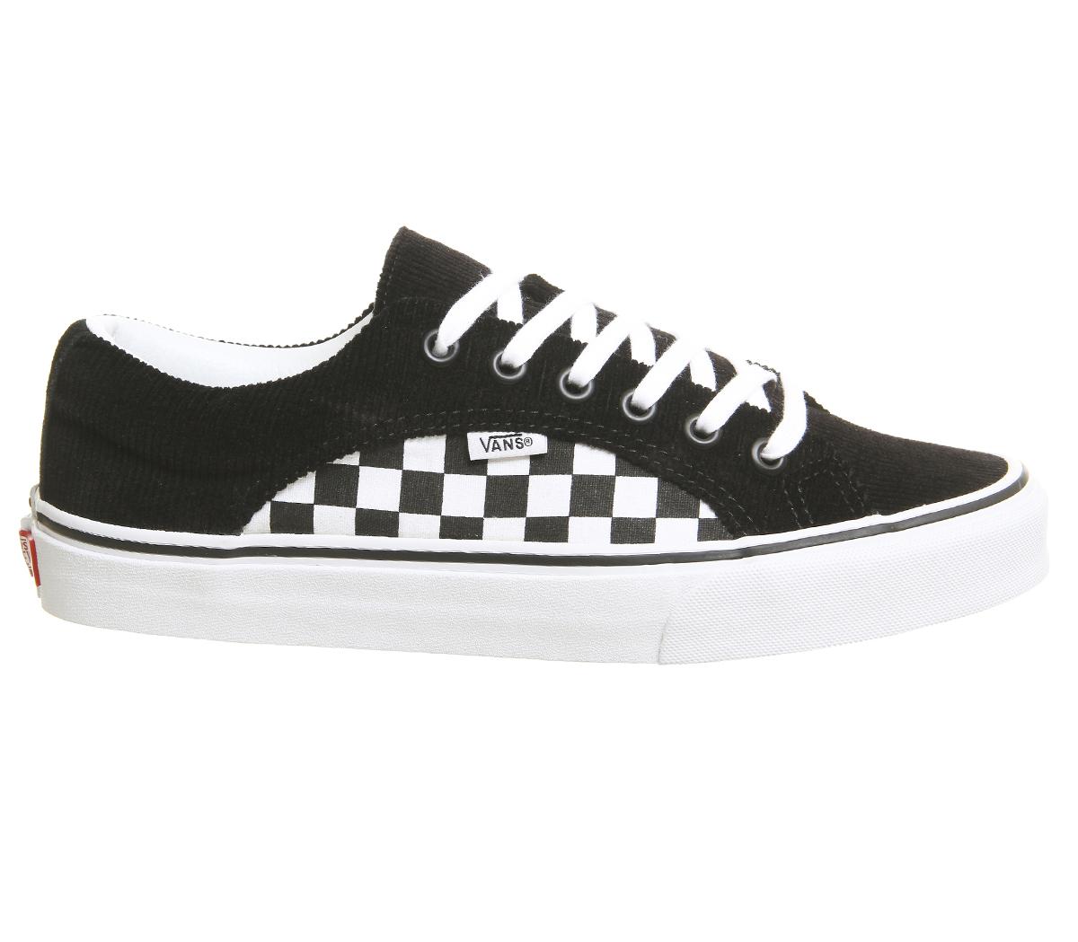 72210f5cbb Sentinel Vans Lampin Trainers Black True White Checkerboard Cord Trainers  Shoes