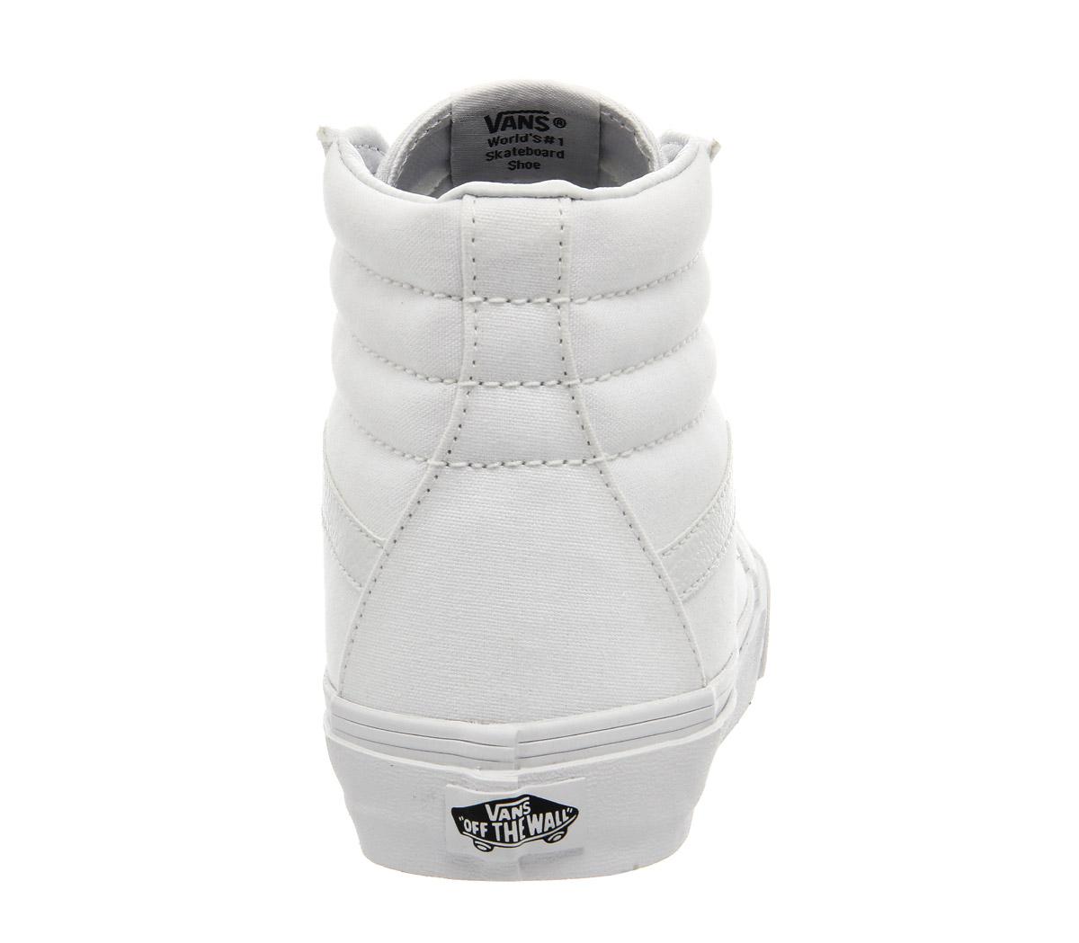 a22798031bd Womens-Vans-Sk8-Hi-True-White-Trainers-Shoes thumbnail