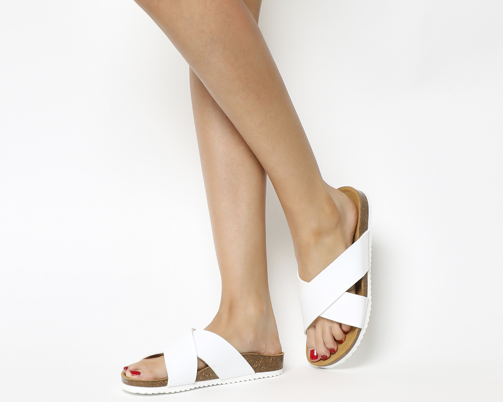 b1c458a29540 Sentinel Womens Office Hoxton 2 Sandals White Sandals