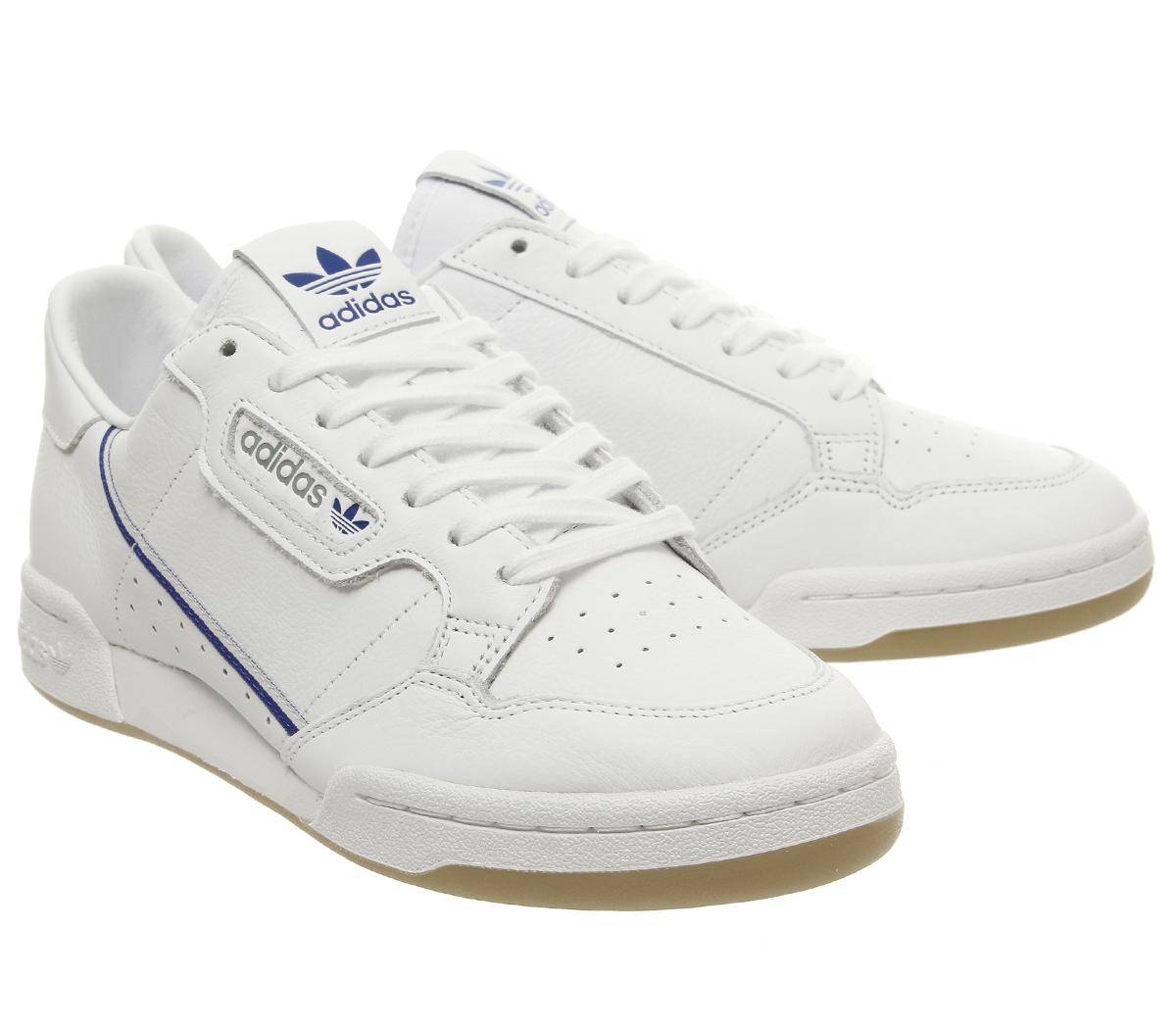 huge selection of 061b0 b4c1d SENTINEL Adidas continentale 80S formatori bianco grigio uno blu marino Gum  Tfl formatori scarpe