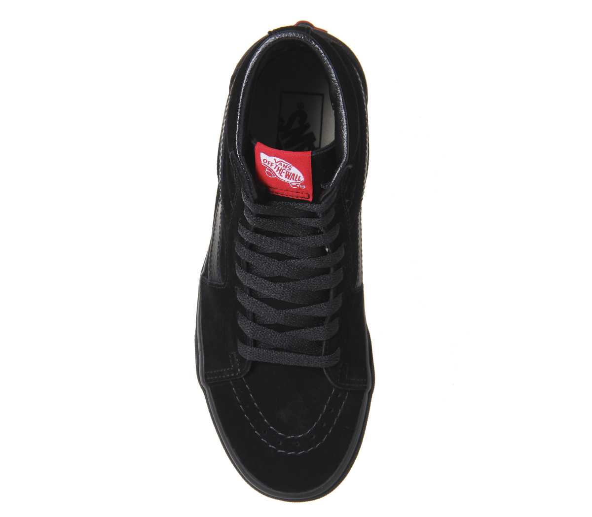 aab3ccf6315 Sentinel Womens Vans Sk8 Hi Black Suede Mono Trainers Shoes
