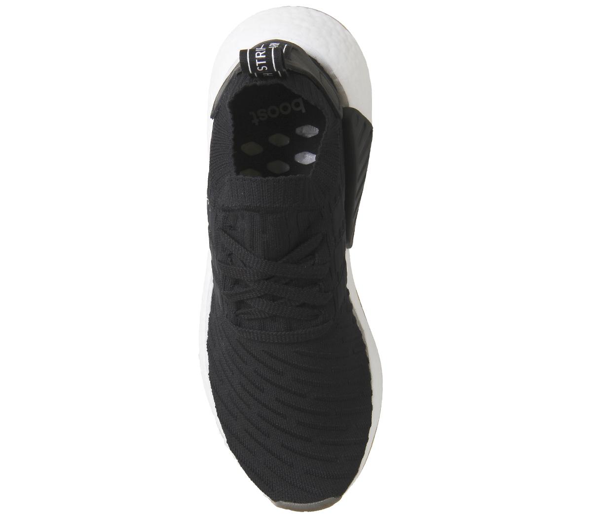 28b4019fc6f4d Zapatillas para hombre Adidas NMD R2 PK Negro Blanco Zapatillas ...