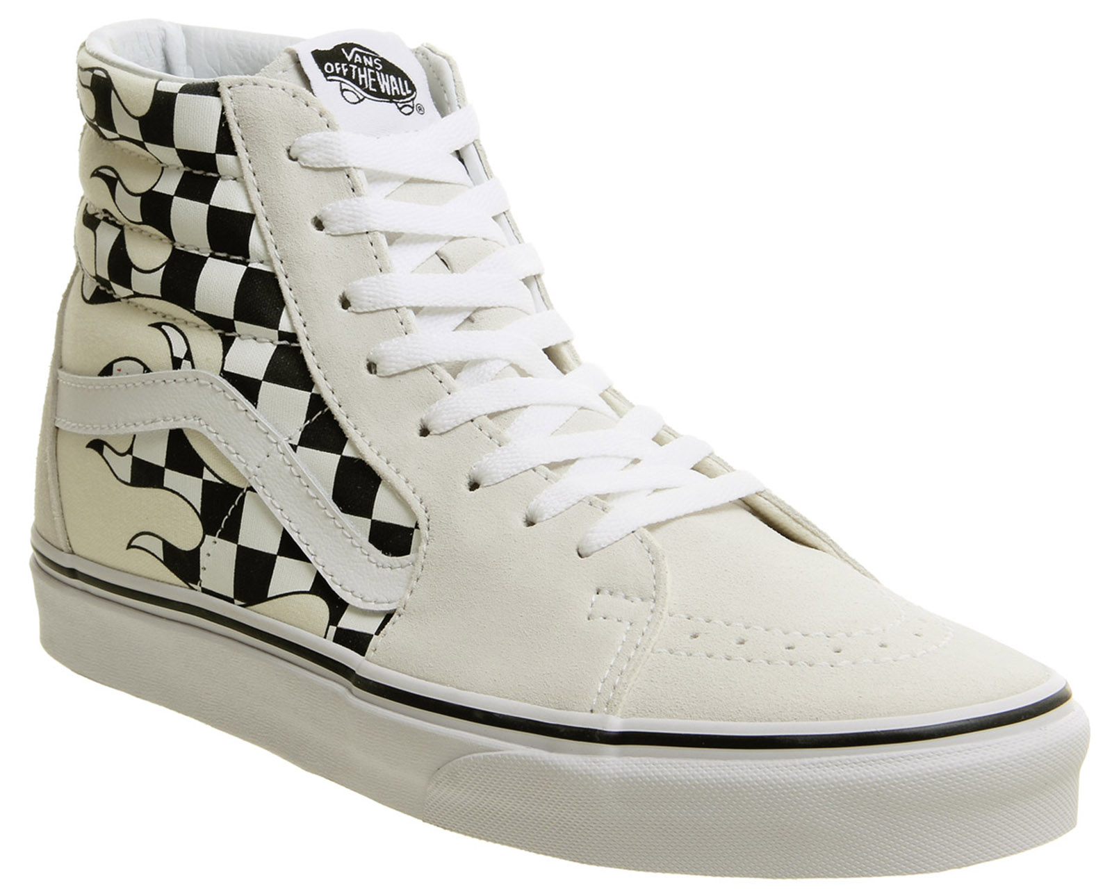 622cb0c4db00 Sentinel Mens Vans Sk8 Hi Trainers Classic White Flame Checker Trainers  Shoes