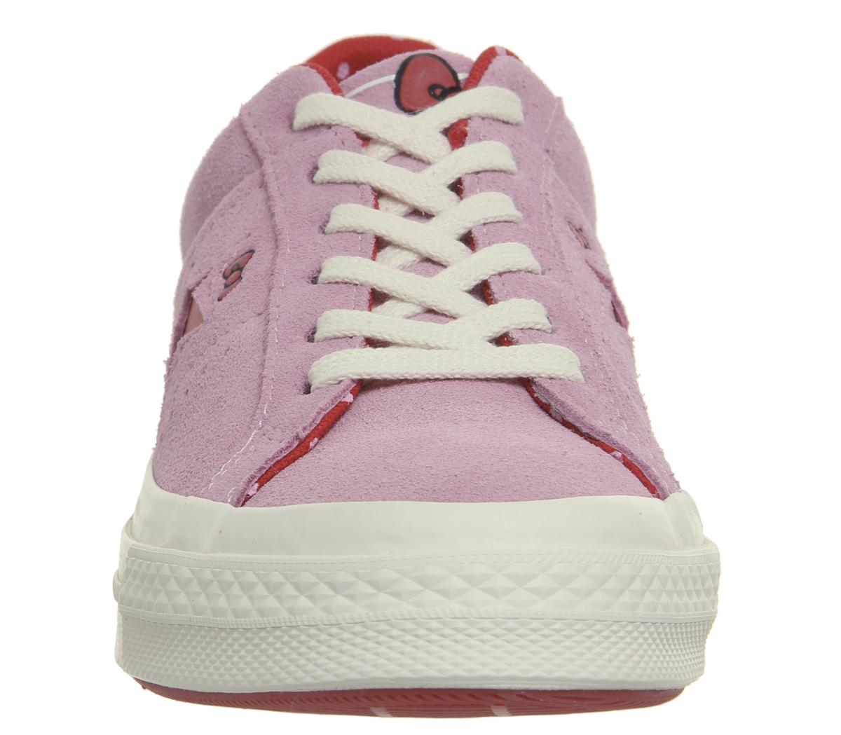 Damenschuhe Converse HELLO One Star Trainers PINK HELLO Converse KITTY Trainers Schuhes b47f1a