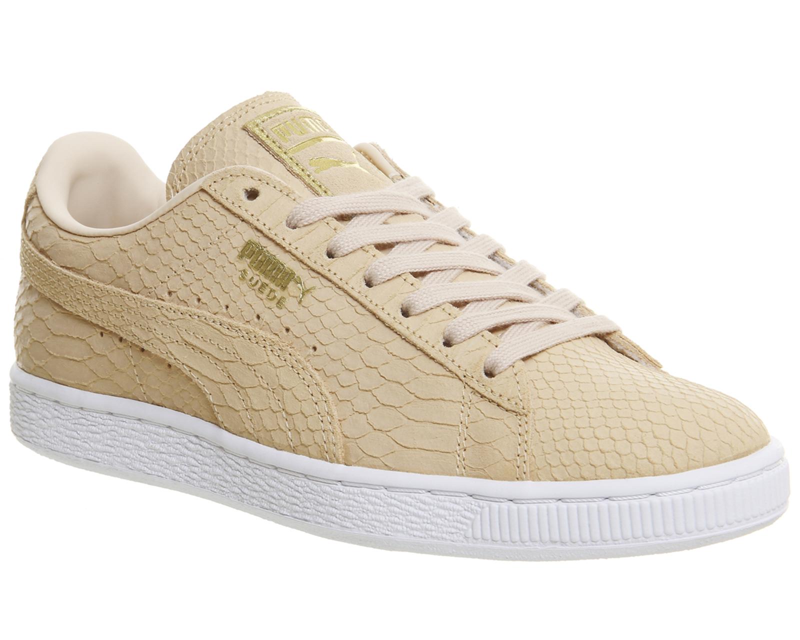 hot sale online e59eb 9e20a Details about Womens Puma Suede Classic NATURAL VACHETTA EXOTIC Trainers  Shoes