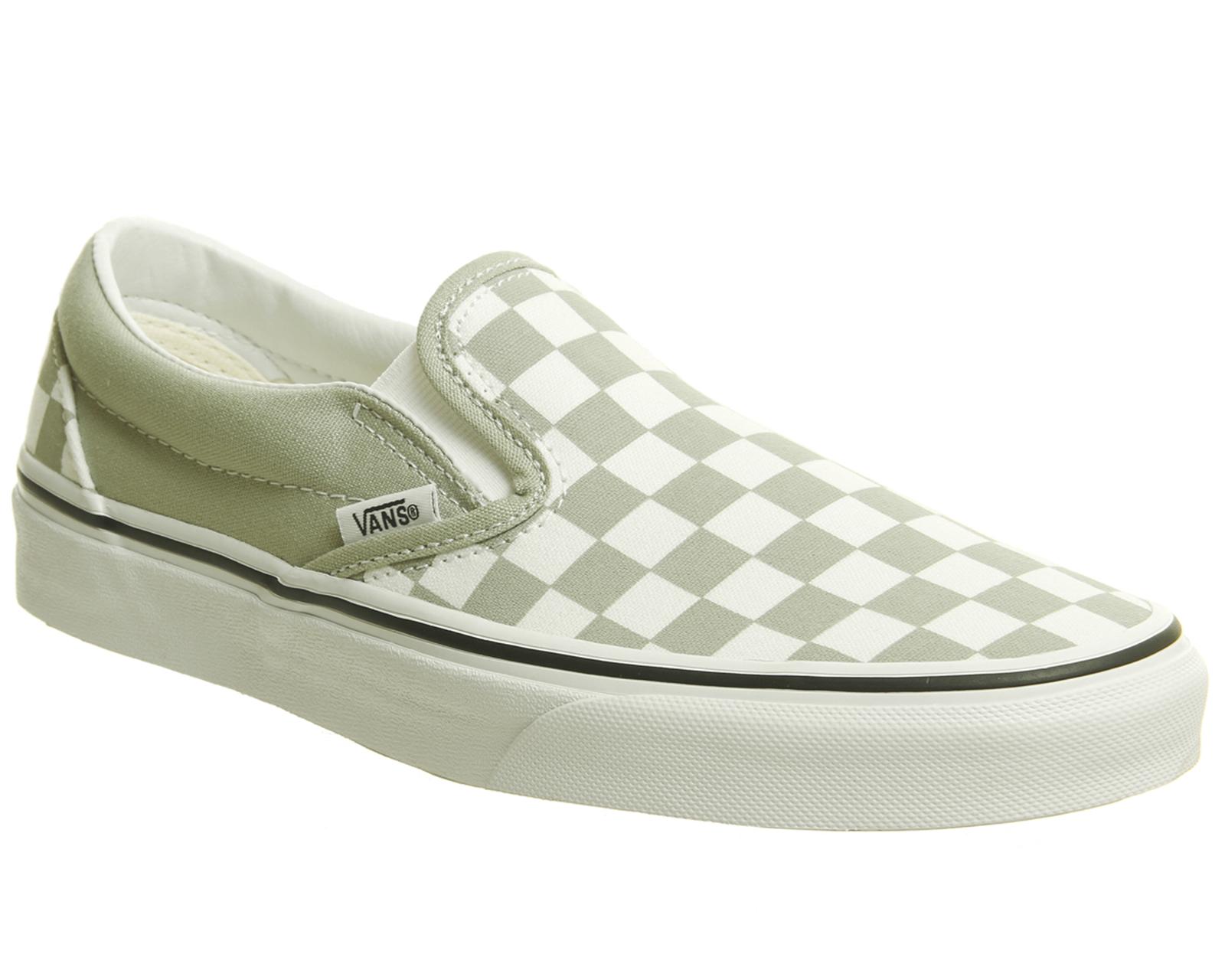134cc311616a Sentinel Womens Vans Vans Classic Slip On Trainers Desert Sage True White  Trainers Shoes