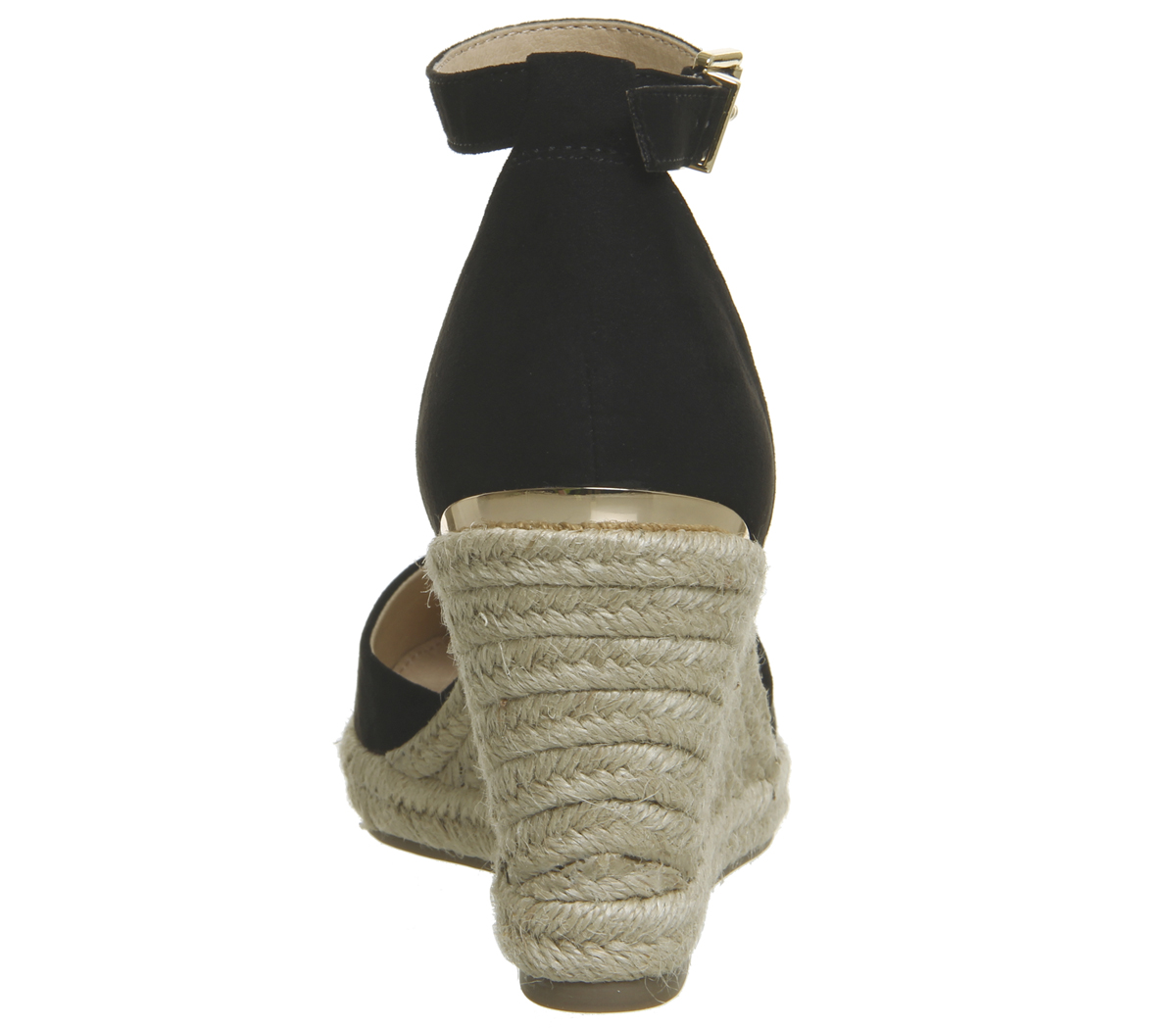 eb6a5d02fe0 Womens Office Marsha Closed Toe Espadrille Wedges Black With Gold ...