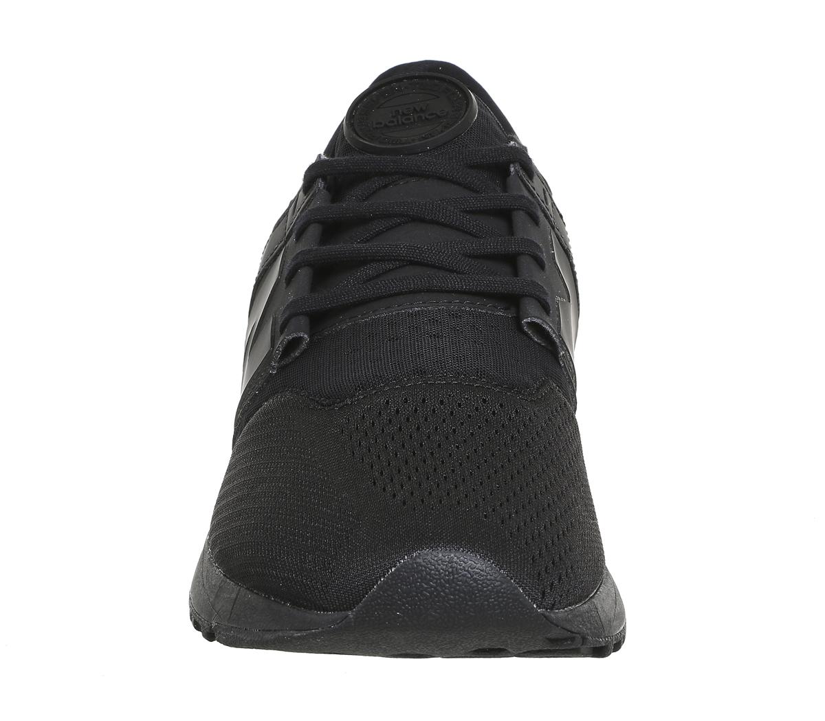 6de3b4631242a Womens New Balance 247 Trainers Black Mono Sport Trainers Shoes