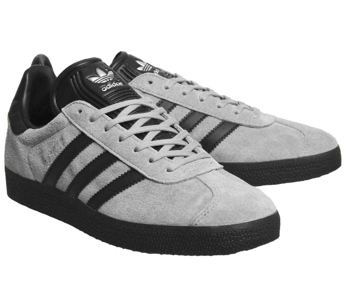 adidas gazelle grey black