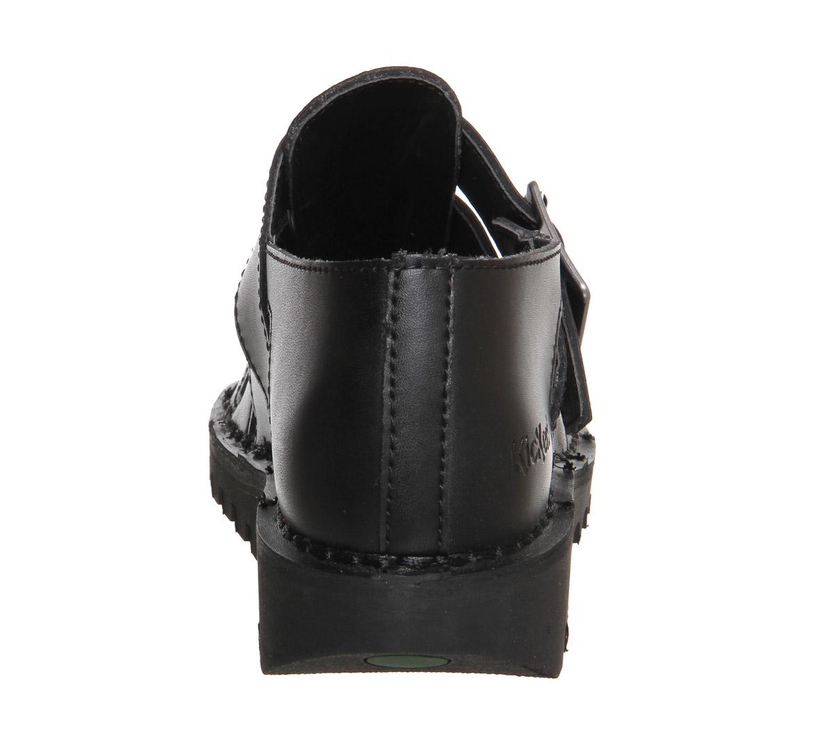d4db15f6b75 Womens Kickers Kick Low Weave Black Leather Flats UK 7 for sale ...