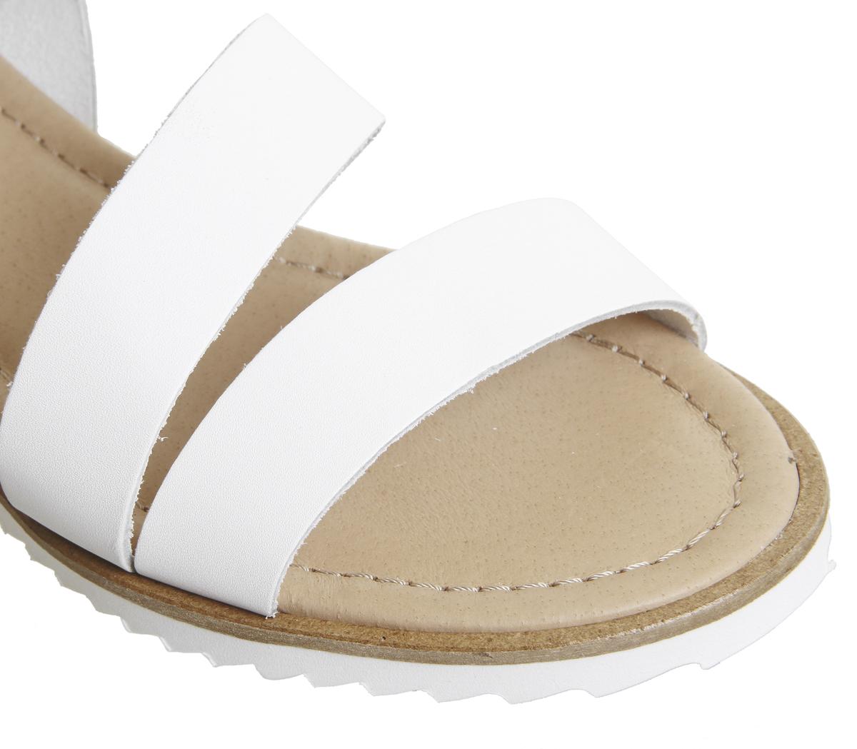 Damenschuhe Office Saltlake Saltlake Saltlake Ankle Strap Sandales Weiß Leder Sandales 17809f