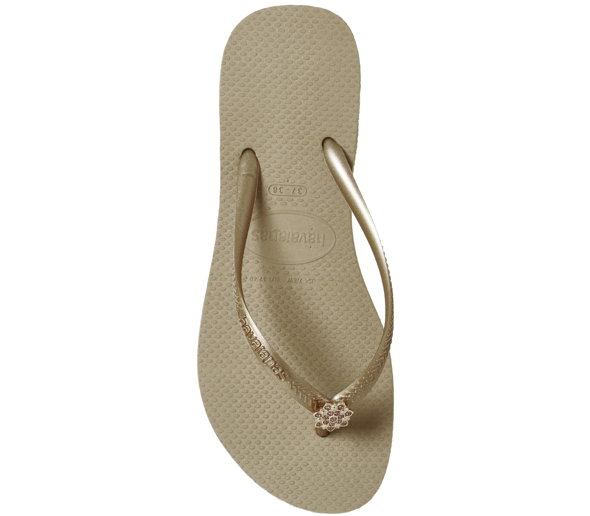 443303bb7863d4 Womens Havaianas Slim Crystal Poem Flip Flop Rose Gold Sandals