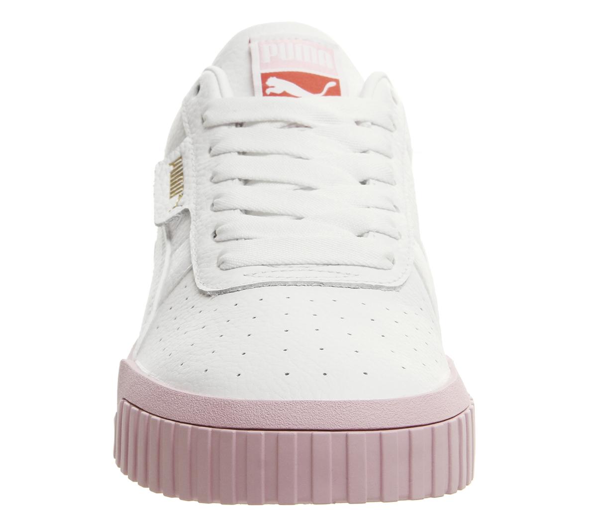 42bfe882d7d5 Sentinel Womens Puma Cali Trainers Puma White Pink Trainers Shoes