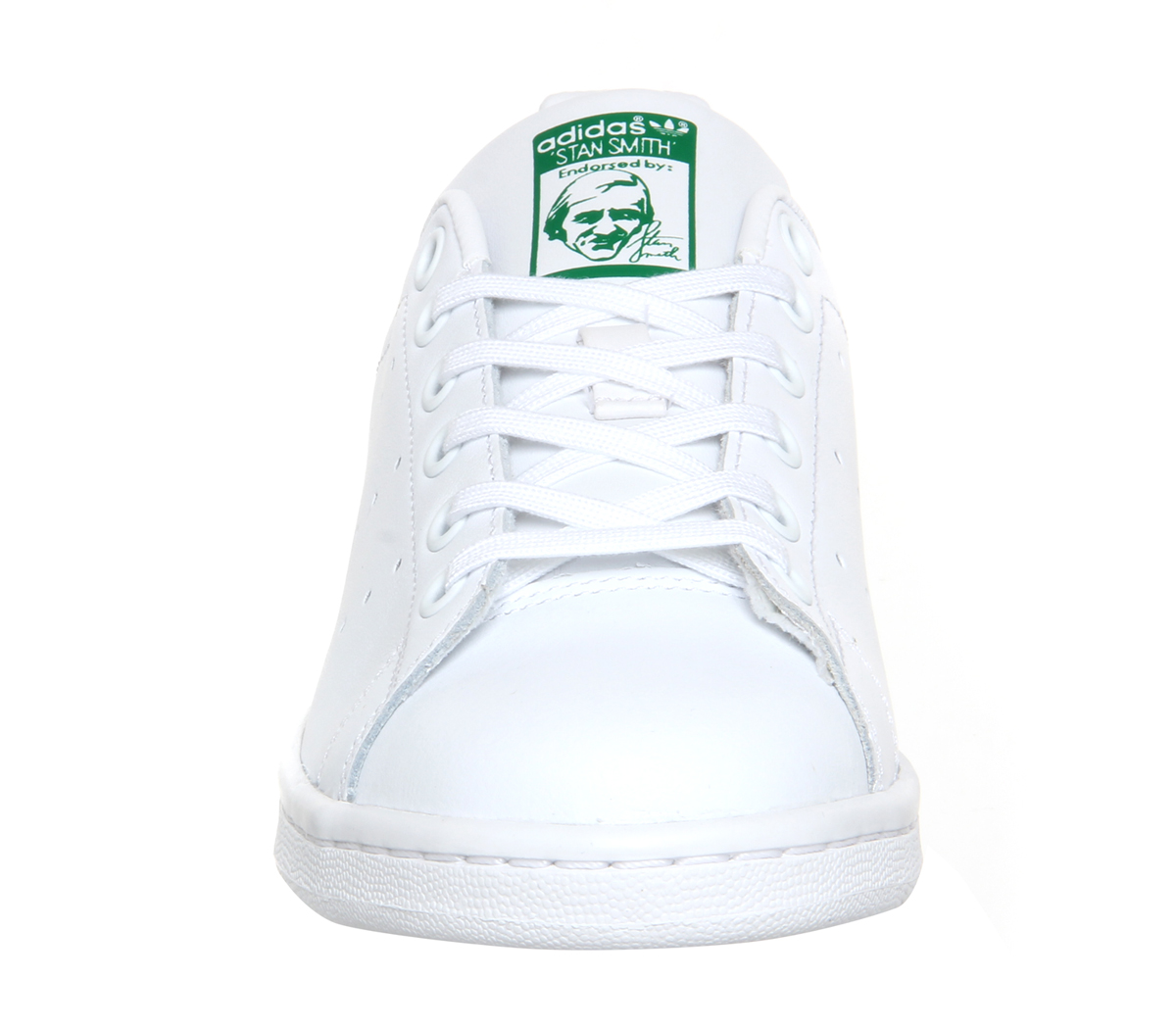 Mens-Adidas-Stan-Smith-Trainers-Core-White-Green-Trainers-Shoes thumbnail 5