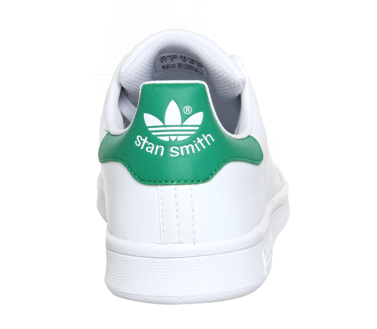 Mens-Adidas-Stan-Smith-Trainers-Core-White-Green-Trainers-Shoes thumbnail 37