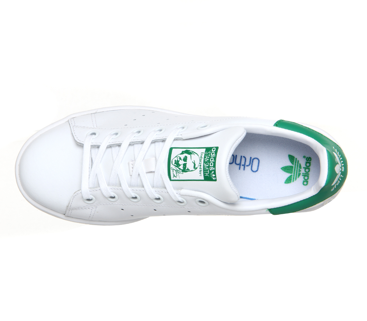 site réputé 5b070 8d142 Mens Adidas Stan Smith Trainers Core White Green Trainers ...