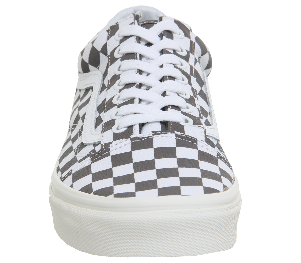 d10600ddea Sentinel Mens Vans Old Skool Trainers Pewter Marshmellow Checkerboard  Trainers Shoes