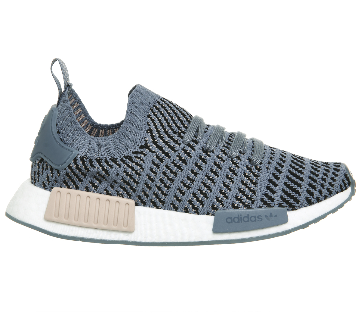 Womens ASH Adidas Nmd R1 Prime Knit Trainers RAW STEEL ASH Womens PEARL WHITE Trainers Shoe 568ffd