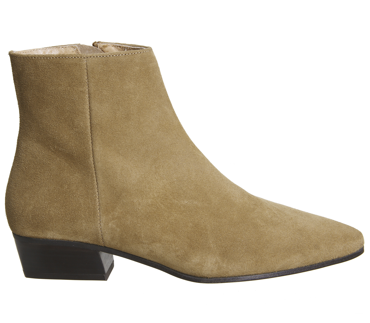 48784c05e234 Sentinel Womens Office Andalucia Casual Low Heel Boots TAN SUEDE Boots