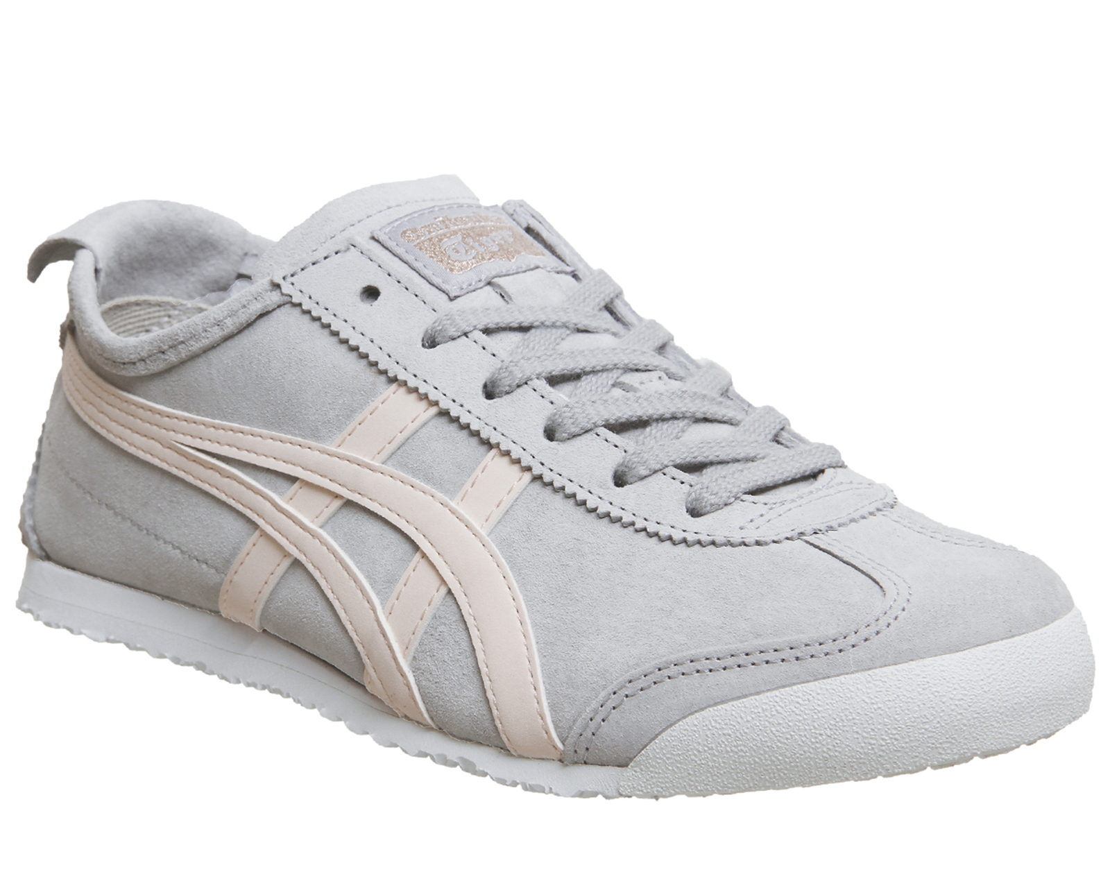 26fd865ce29d Sentinel Womens Onitsuka Tiger Mexico 66 Trainers Grey Pink Suede Exclusive  Trainers Shoe