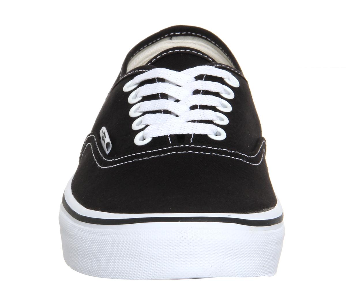fab337f5cc3674 Sentinel Mens Vans Authentic Black White Trainers Shoes