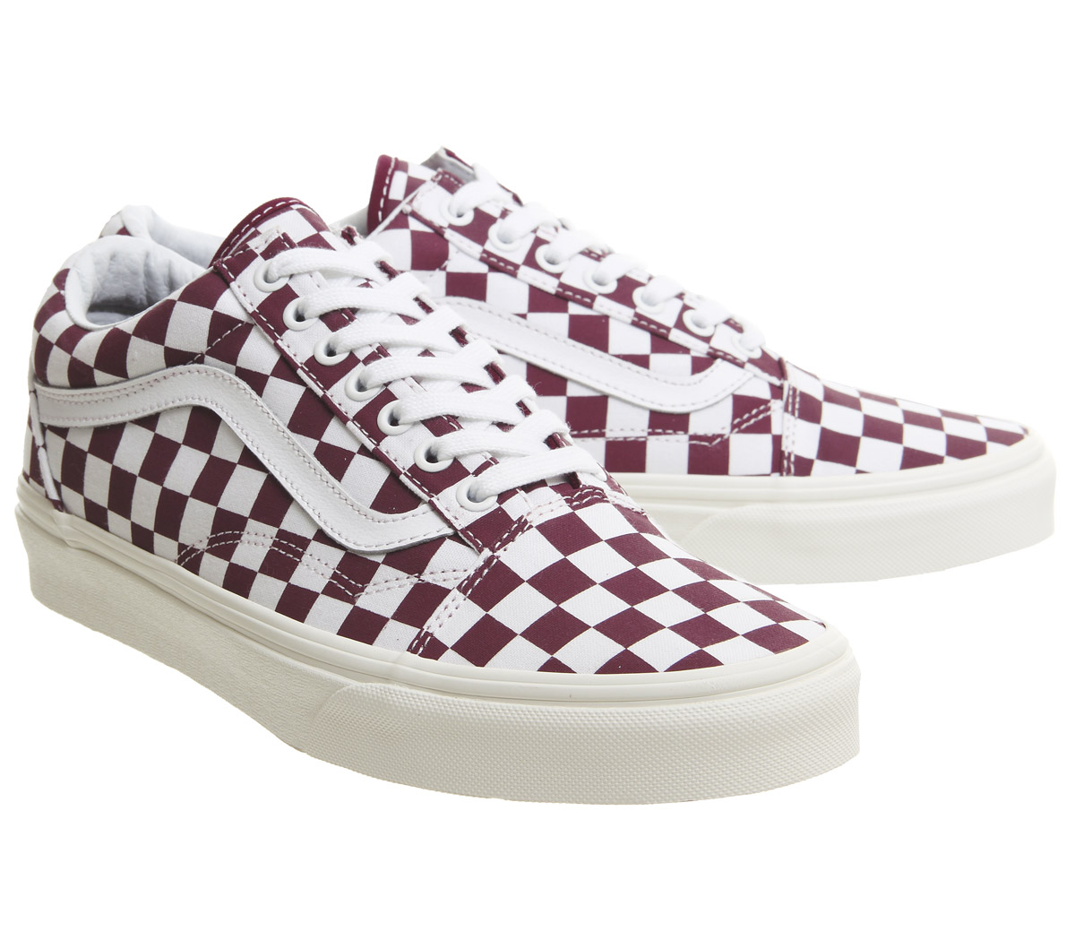 Mens Vans Old Skool Trainers Port Royale Marshmellow Checkerboard ... c38377f61