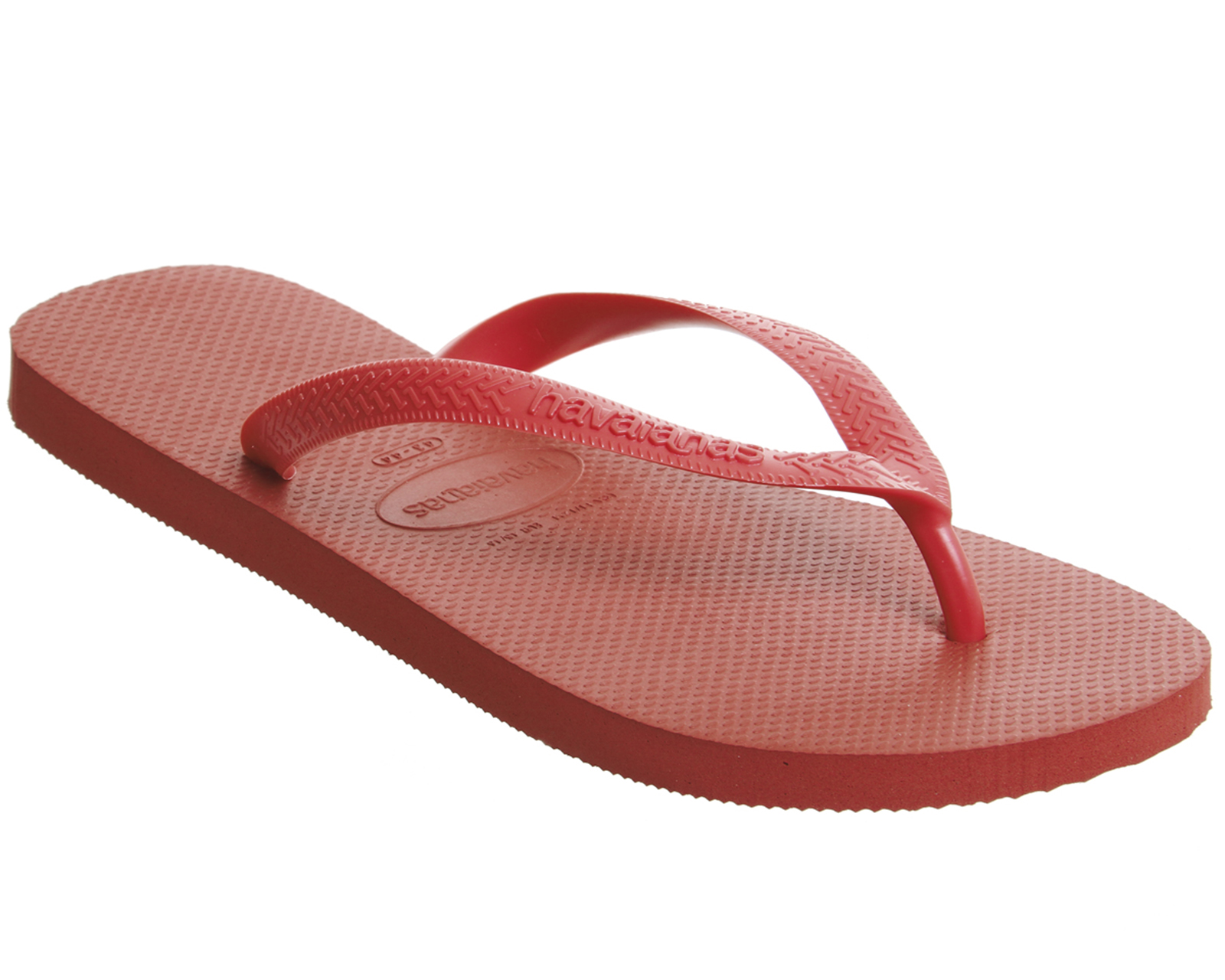 2274e823a Sentinel Mens Havaianas Top Flip Flops Ruby Red Sandals