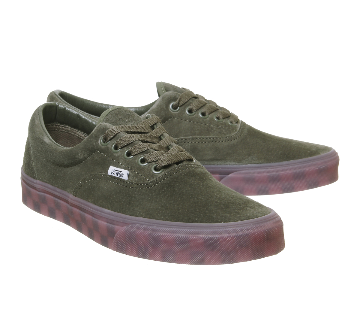 568c406793 Sentinel Mens Vans Era Trainers Grape Leaf Checker Ice Sole Exclusive Trainers  Shoes