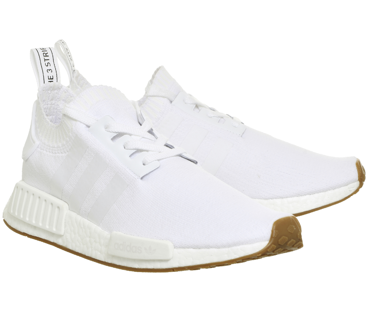 Adidas Nmd R1 Prime Knit WHITE WHITE GUM Trainers Shoes  38cf3c1d7