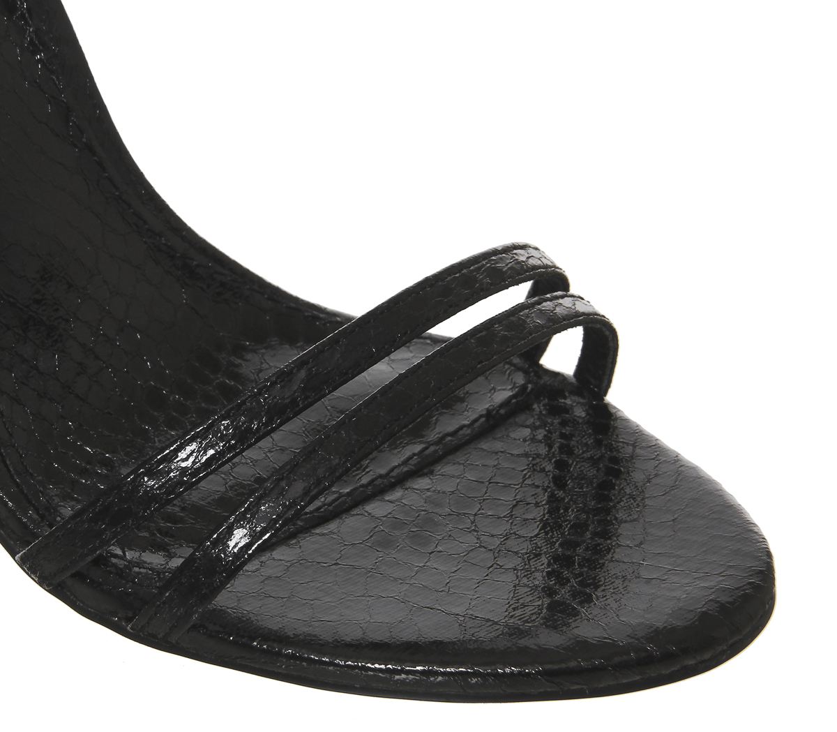 Womens-Office-Hot-Cake-Strappy-Sandal-Heels-Black-Snake-Heels thumbnail 9