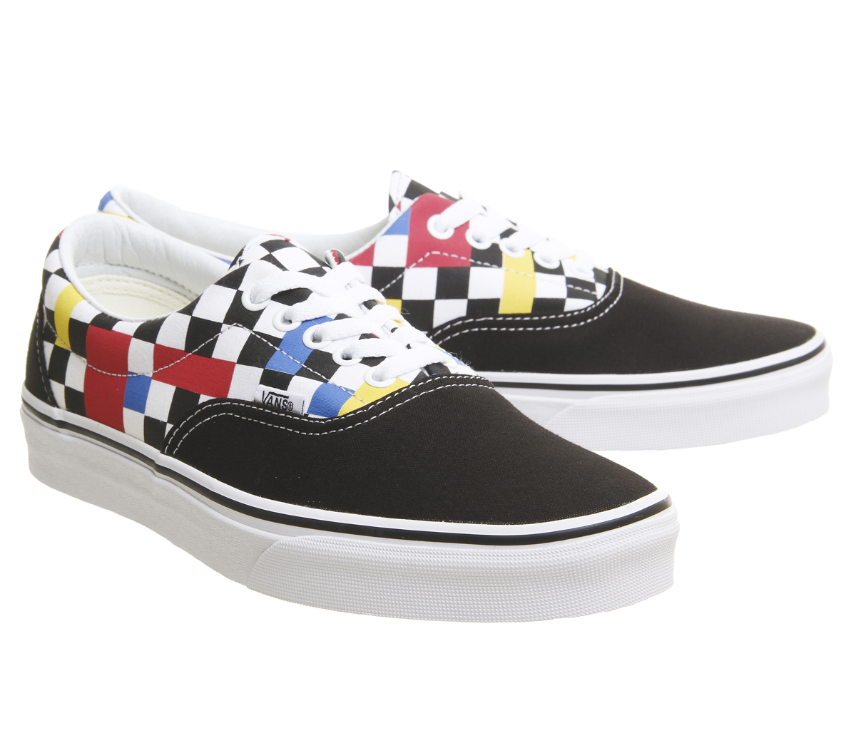 666e772893 Mens Vans Era Trainers Geometric Black Multi True White Exclusive ...