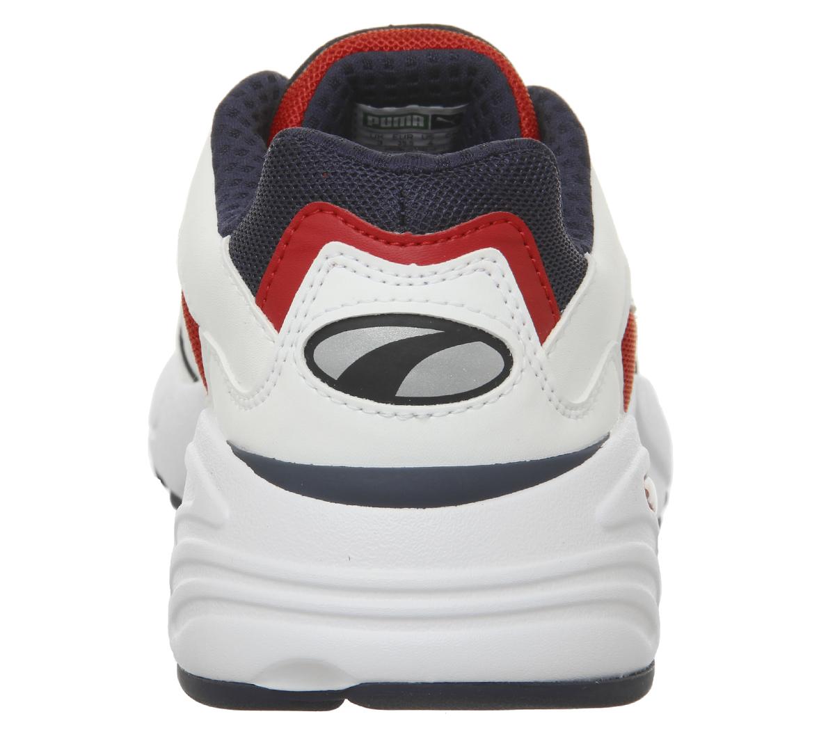 Homme-Puma-Cell-Viper-Baskets-PUMA-blanc-Risque-Eleve-Rouge-Baskets miniature 6