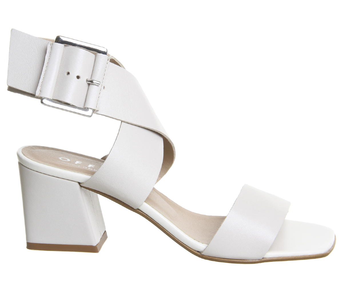 Off Heels Office Block White Clean Leather Modena Womens HSq6Xq